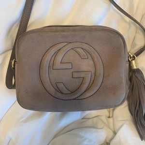 Gucci Soho Disco Bag in gray/taupe